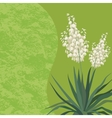Background with flowers yucca vector