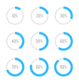 Set of colorful circle diagrams for infographics vector