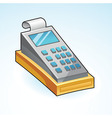 Icon cash register - vector