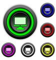 Computer buttons set vector