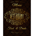 Template with gold calligraphic elements vector