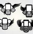 Cell emblems grunge vector