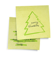 Business yellow sticky notes vector