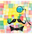 Vintage silhouette of mustaches monocle vector