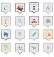Web icons grunge labels vector