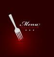 Fork menu restaurant cover vector