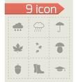 Black academic icon set vector