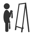 Flat fitting room tie icon isolated on white vector