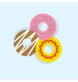 Three donuts vector