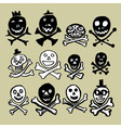 Primitive skulls inspired by naive art vector