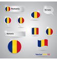 Romania icon set of flags vector