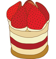 Strawberry and cream shortcake vector