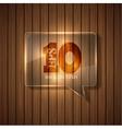 Modern bubble speech background eps 10 vector