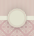 Vintage card with floral ornament design damask vector