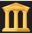 Doric realistic antique greek temple with columns vector