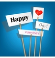 White posters with inscription - happy valentines vector