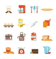 Bakery icon flat vector