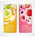 Fruits banners vertical vector
