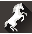 Background with horse standing in flat style vector