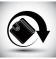 Wallet simple single color icon vector