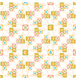 Seamless pattern of letters vector