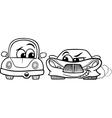 Old automobile and gt car cartoon vector