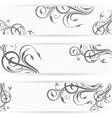 Website header or banner set with beautiful floral vector