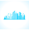 Abstract blue building design vector