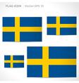 Sweden flag template vector