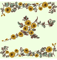 Pattern floral yellow flower vector