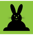 Sitting smiling black easter bunny vector