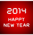 2014 happy new year card red background vector