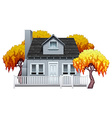 A house with fence vector