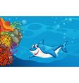 A shark under the sea vector