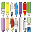 Writing drawing and painting tools and accessory vector