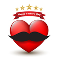 Heart with happy father day vector