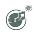 Vinyl icon isolated single color music theme symb vector
