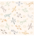 Airplanes pattern color vector
