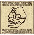 Aztec motif head background vector