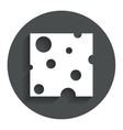 Cheese sign icon slice of cheese vector