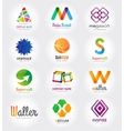 Abstract logo template set for branding and vector