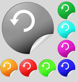 Upgrade arrow update icon sign set of eight vector