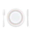 Knife fork and plate vector