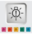 Xenon car lamp icon vector