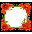 Floral poppy frame vector