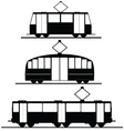Trams and trolleybuses vector