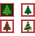 Christmas postal stamp vector