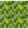 Seamless green background with circles eps10 vector