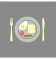 Breakfast background vector
