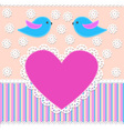 Greeting card in scrapbook style vector
